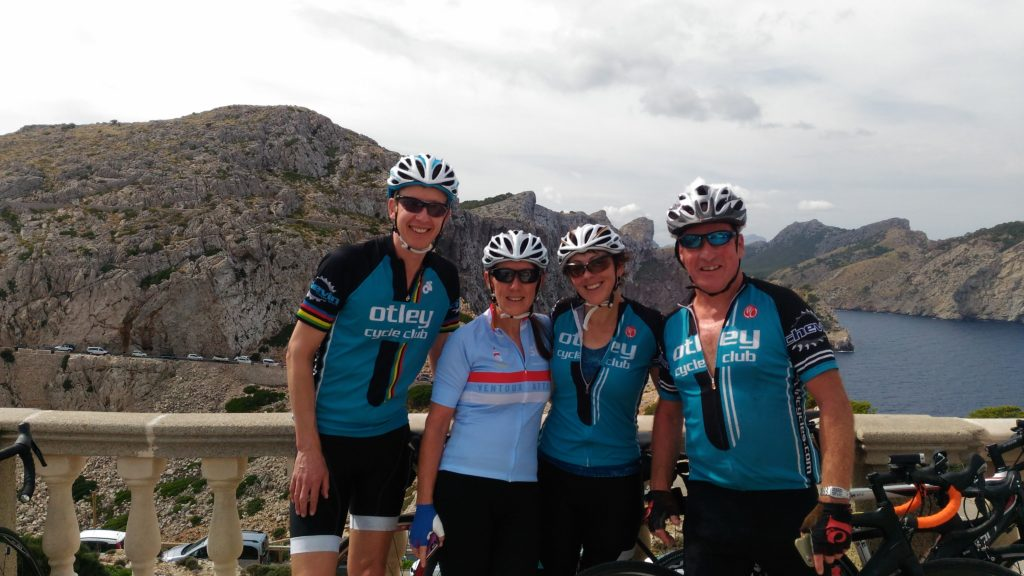 The Formentor Four at the lighthouse.