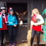 Otley CC vising Christmas Donkeys